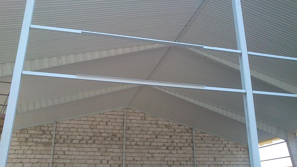 Потолок быстровозводимого здания