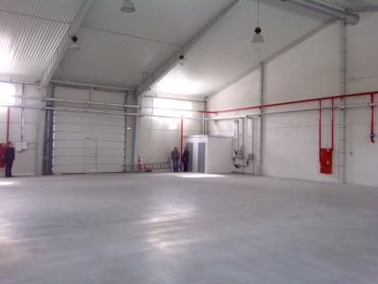 Быстровозводимое здание ангара склада, вид внутри