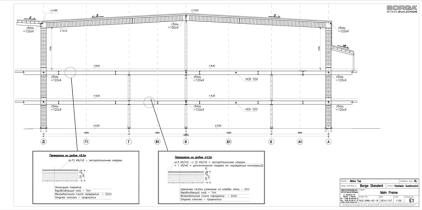 Рама с межэтажным перекрытием в 2 уровня