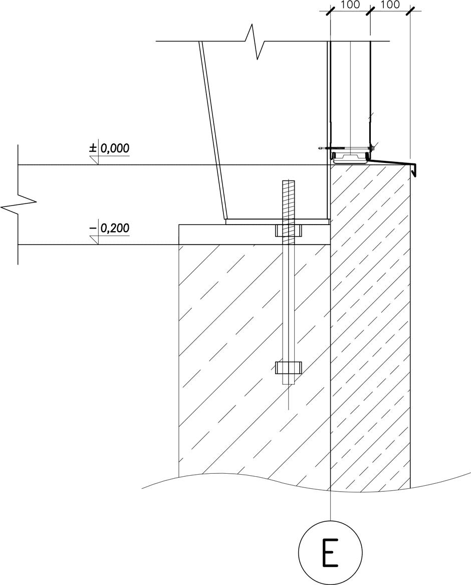 Крепление опоры колонны к фундаменту