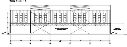 Чертежи фасадов быстровозводимого здания физкультурно-оздоровительного комплекса