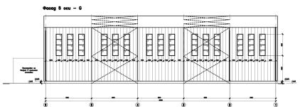Чертежи фасодов быстровозводимого здания ФОК