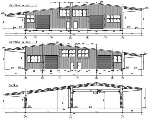 Проект двухпролетного производственного быстровозводимого здания