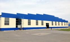 Логистический центр из быстровозводимых металлоконструкций, вид снаружи