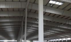 Логистический центр из быстровозводимых металлоконструкций, вид внутри
