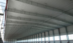 Ангар из быстровозводимых конструкций внутри, Калининград