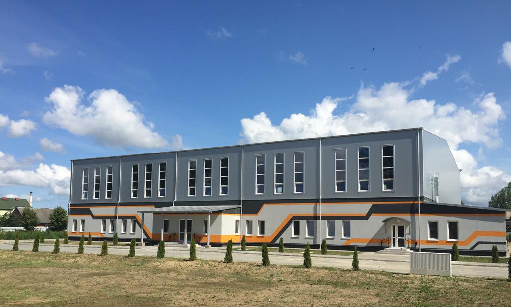 Быстровозводимое здание ФОК в г. Багратионовск из сборных металлоконструкций Borga