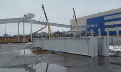Монтаж здания логистического комплекса из металлоконструкций Borga