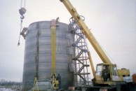 Монтаж резервуара объемом 1000 м. куб.