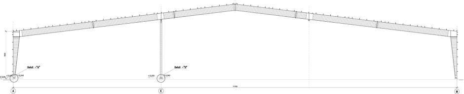 Главная рама несущей конструкции быстровозводимого производственного здания 2