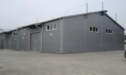 Установка несущих конструкций ангара-склада