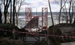 Металлоконструкции шахты грузового лифта для спуска к морю